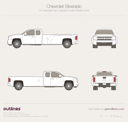 Chevrolet Silverado drawings
