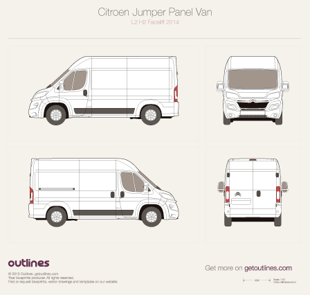 Citroen Relay drawings