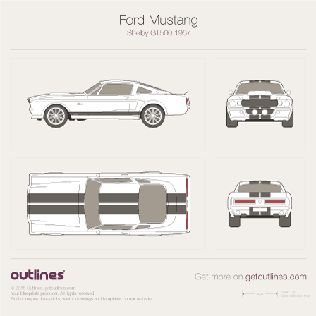 Ford Mustang drawings