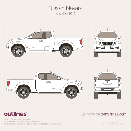 Nissan Frontier drawings
