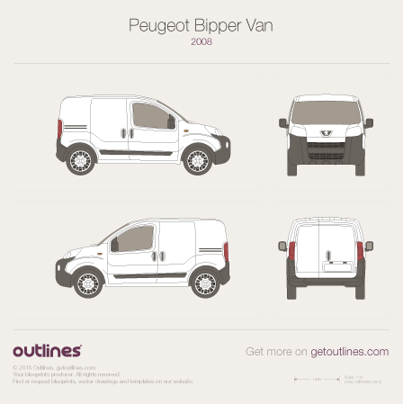 Peugeot Bipper drawings