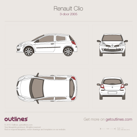 Renault Clio drawings