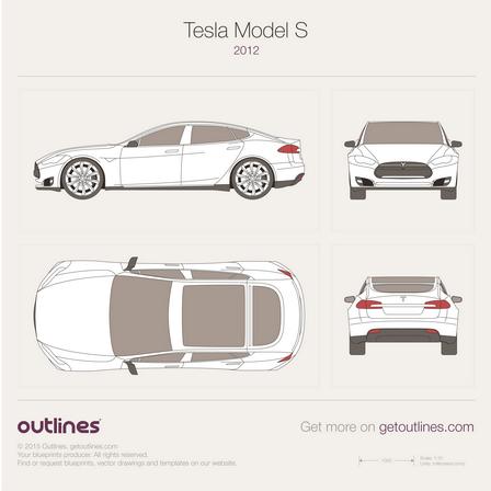 2012 tesla model s drawings outlines car repair logos ma car repair logo images