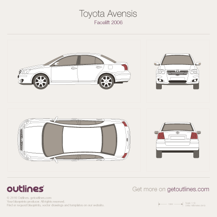 Toyota Avensis drawings