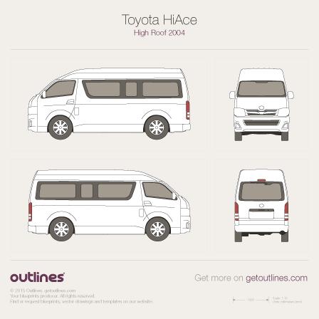 2004 Toyota Quantum Blueprints Outlines