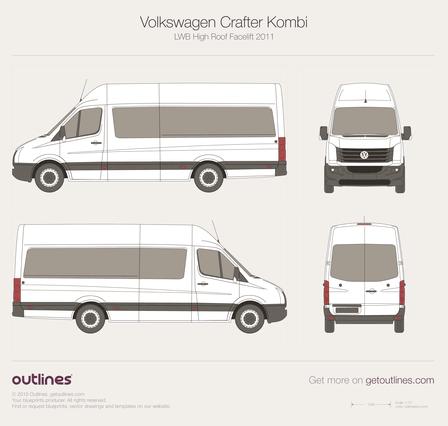 Фольксваген крафтер пассажирский схема мест