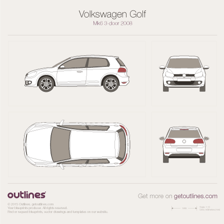 Volkswagen Golf drawings