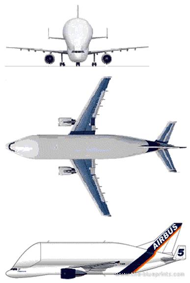 Airbus A300-600 Beluga blueprints