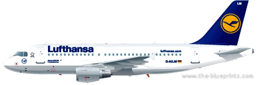 Airbus A319-100 blueprints