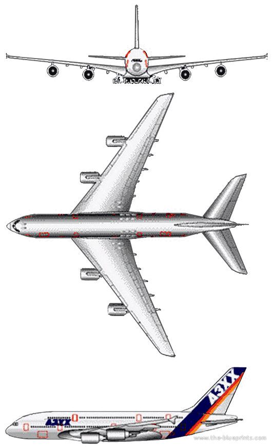 Airbus A380 blueprints