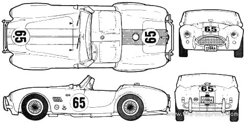 AC Cobra 289 blueprints