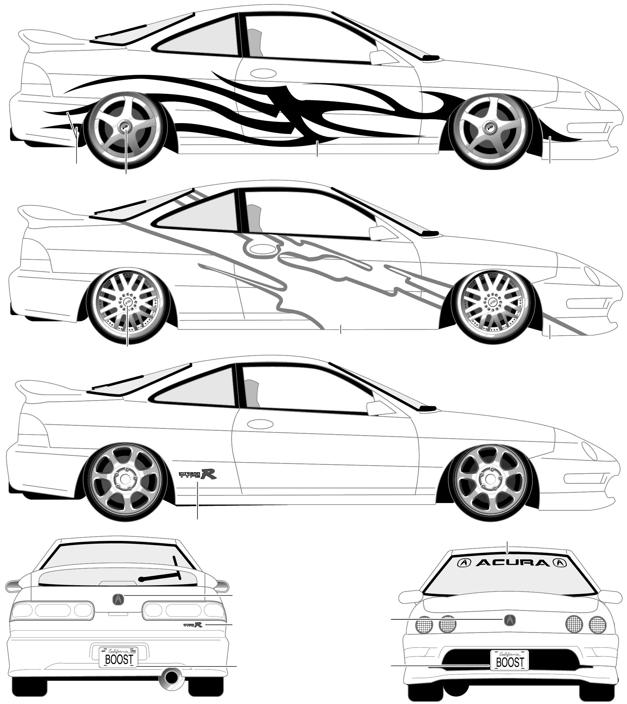 1998 Acura Integra R Coupe Blueprints Free