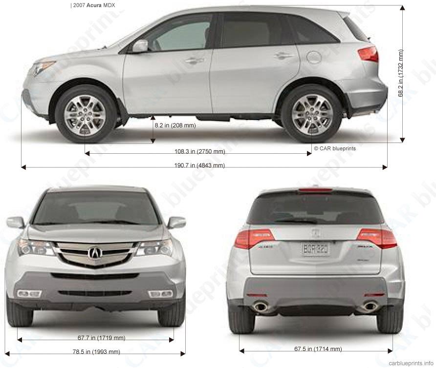 Acura MDX blueprints