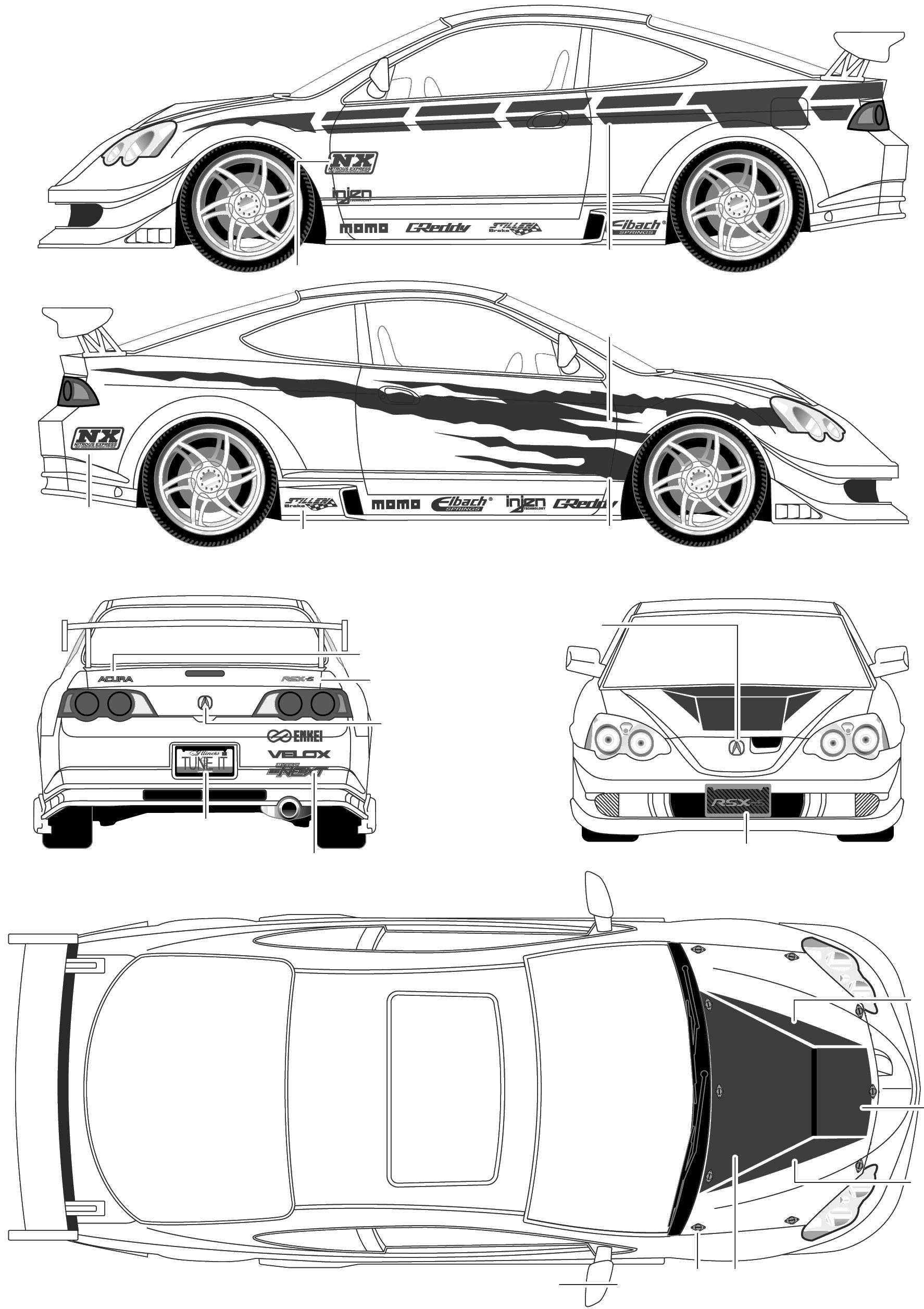 Acura RSX Type S blueprints