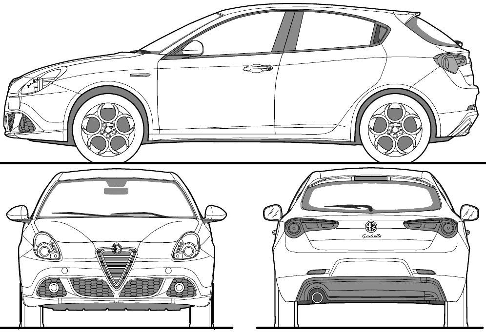 2010 alfa romeo giulietta hatchback blueprints free