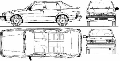 1988 alfa romeo 75 1 8 turbo sedan blueprints free