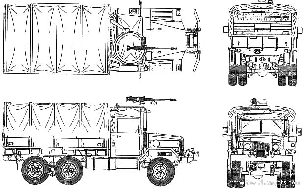 AM General M35 2.5ton blueprints