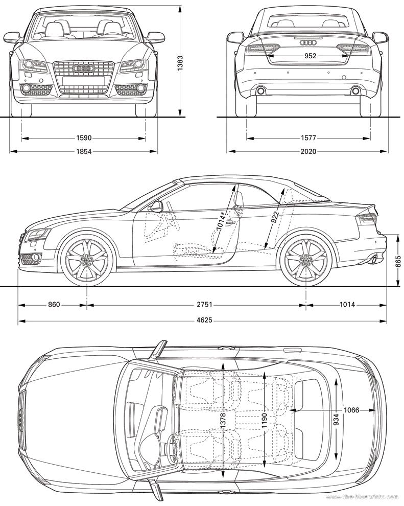 2010 audi a5 cabriolet blueprints free outlines audi a5 blueprints malvernweather Images