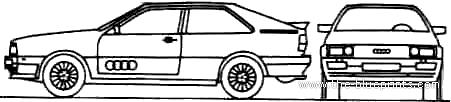 Audi Quattro blueprints