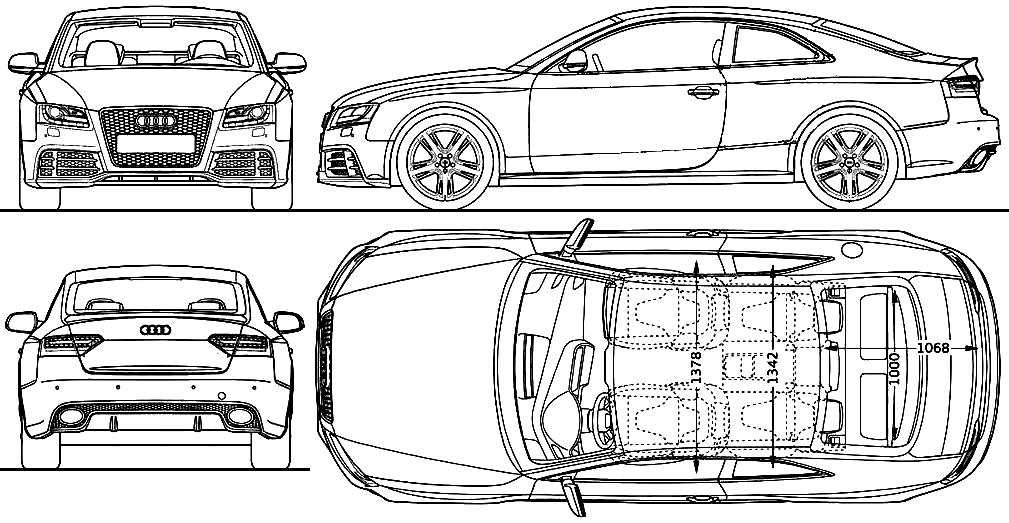 2011 audi rs5 coupe blueprints free