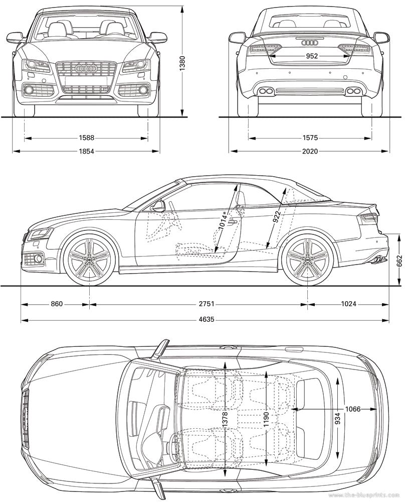 Audi S5 blueprints