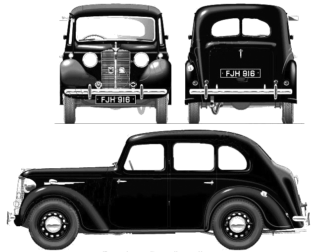 Austin 10 Saloon GRQ blueprints