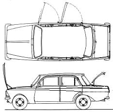AZLK Moskvich 412 blueprints
