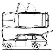 AZLK Moskvich 427 blueprints