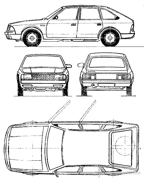 AZLK Moskvich 2141 Aleko blueprints