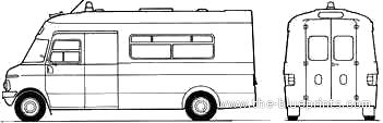 Bedford Ambulance blueprints