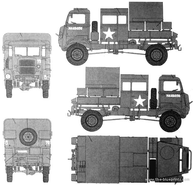 Bedford QLR 4x4 Bofors Gun Tractor Heavy Truck Blueprints