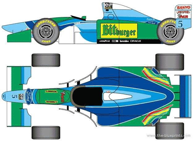Benetton B194 F1 GP blueprints