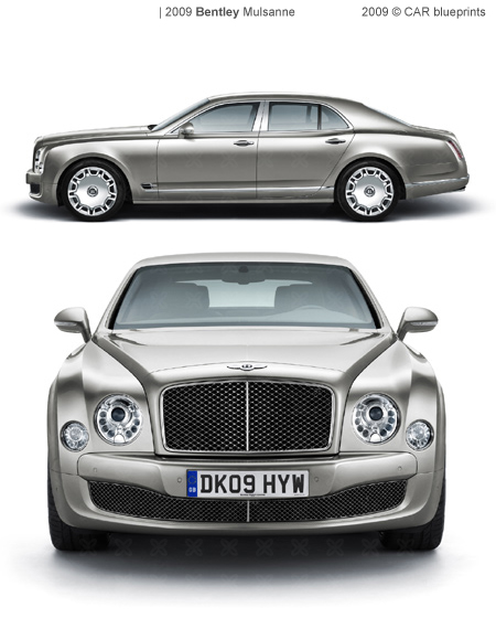 2009 Bentley Mulsanne Sedan Blueprints Free