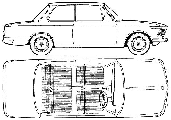BMW 1602 blueprints