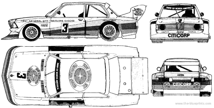 bmw 2002 tii group 4 coupe blueprints free