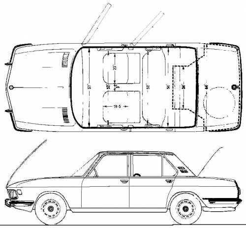 1971 bmw 3 0s sedan blueprints free