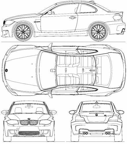 2011 bmw m1 coupe blueprints free