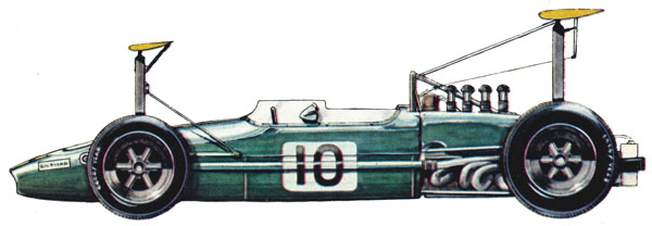 Brabham BT26 F1 blueprints