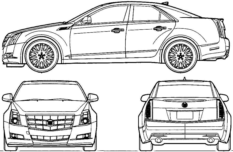 2010 cadillac cts sedan blueprints free