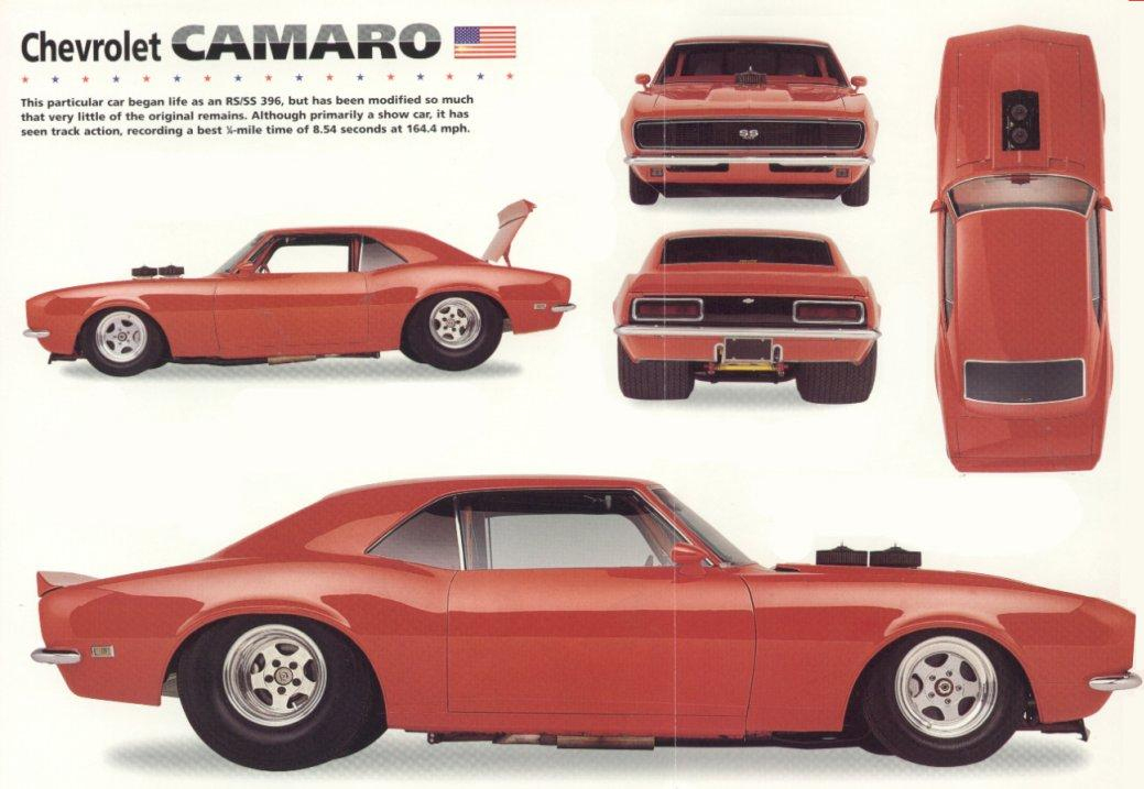 1968 Chevrolet Camaro Rsss Coupe Blueprints Free Outlines