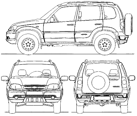 2009 Chevrolet Niva Gls Suv Blueprints