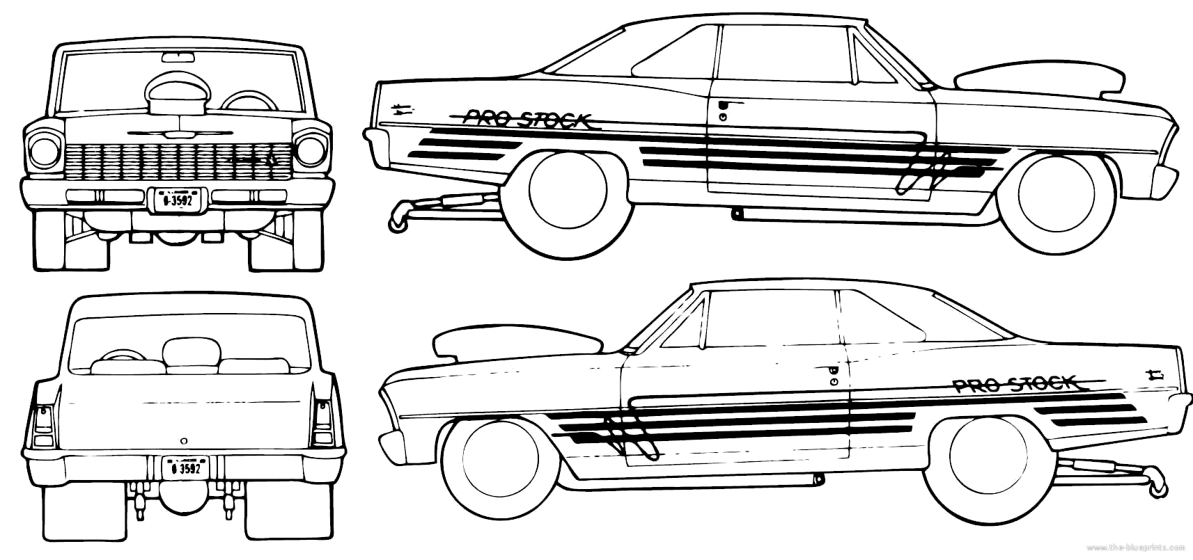 1966 chevrolet nova pro street coupe blueprints free