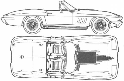 1967 chevrolet corvette c2 427 roadster blueprints free