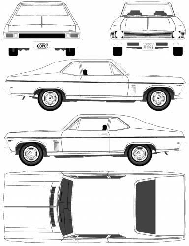 1969 chevrolet nova 427 2 door copo coupe blueprints free