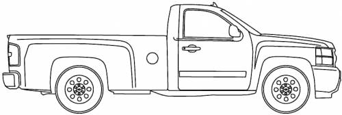 Chevrolet Silverado Regular Cab blueprints