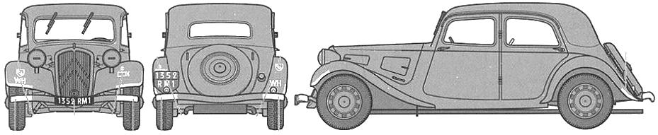 Citroen 11CV Traction Avant blueprints