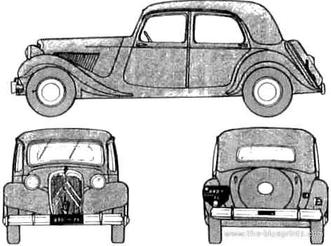 Citroen 15CV Traction Avant blueprints