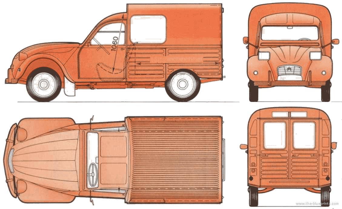Citroen 2CV 400 Fourgonette blueprints