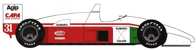 Coloni C3B Subaru F12 F1 blueprints