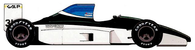 Coloni C4 Ford DFR V8 F1 blueprints